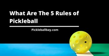 what are the 5 rules of pickleball